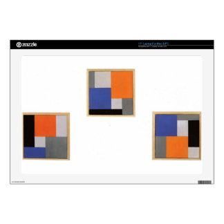Composition XVIII in three parts by Theo Laptop Decal