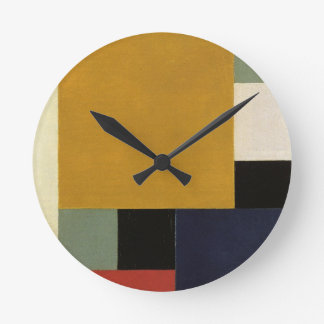 Composition XXII by Theo van Doesburg Round Clock