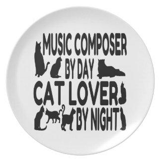 Compositor de la música del amante del gato platos para fiestas