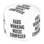Compositor de trabajo duro de la música puf redondo