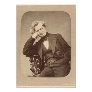"""Compositor romántico francés Hector Berlioz Invitación 5"""" X 7"""""""