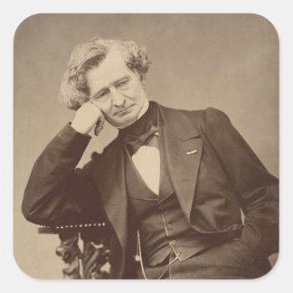 Compositor romántico francés Hector Berlioz Pegatina Cuadrada