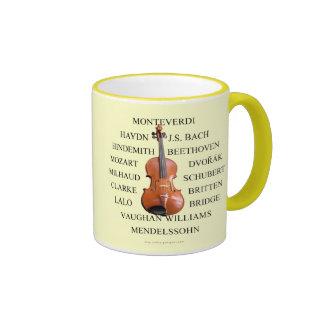 Compositores del Violist Taza De Café