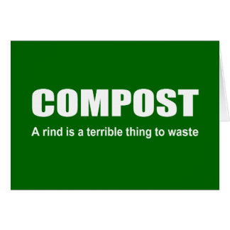 Compost: A rind is a terrible thing to waste Stationery Note Card