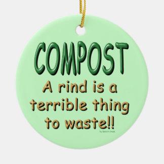 Compost Ceramic Ornament
