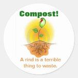 Compost Classic Round Sticker