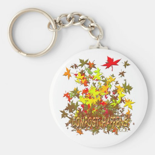 Compost Happens Keychains
