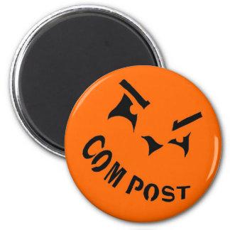 Compost Jack-o-Lantern Magnet