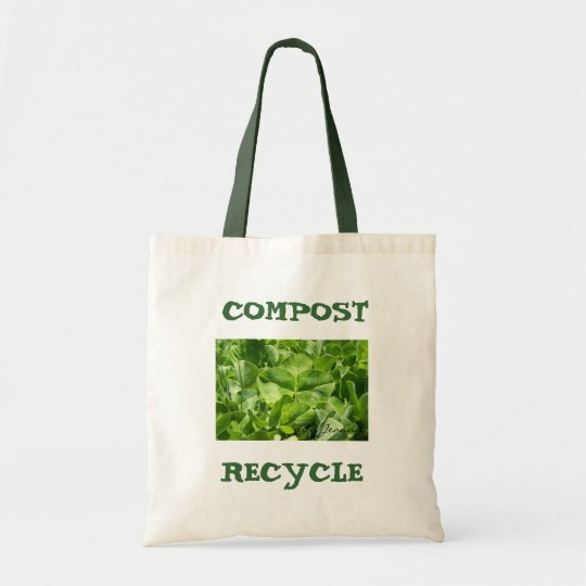compost & recycle eco friendly bag