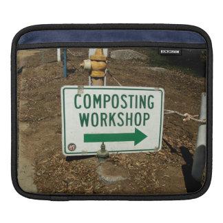 Composting Workshop Sign iPad Sleeves