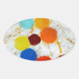 Compra de componentes - una pintura abstracta de pegatina ovalada