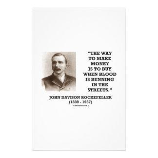 Compra de Rockefeller cuando la sangre está Personalized Stationery