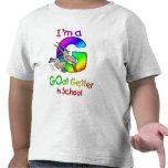 Comprador de la cabra en escuela camiseta