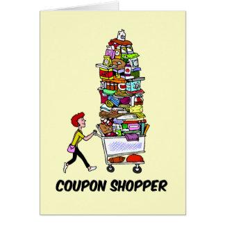 comprador de la cupón tarjeta de felicitación