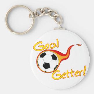 Comprador de la meta del fútbol llaveros personalizados