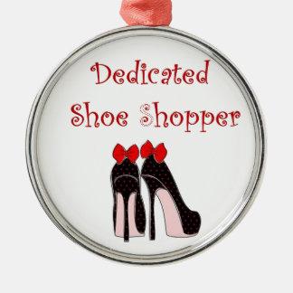 Comprador dedicado del zapato adorno navideño redondo de metal