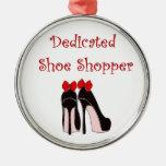 Comprador dedicado del zapato ornamento para arbol de navidad