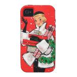 Comprador del navidad de los años 50 vibe iPhone 4 funda