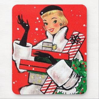 Comprador del navidad de los años 50 alfombrillas de raton