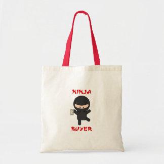 comprador del ninja con efectivo bolsa tela barata