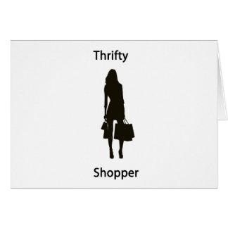 Comprador económico tarjeta de felicitación