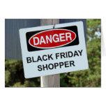 Comprador negro de viernes del peligro felicitación