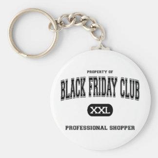 Comprador negro del profesional de club de viernes llavero redondo tipo pin