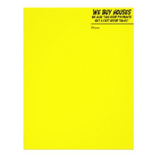 Compramos casas cabeza amarilla de la letra membrete personalizado