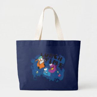 Compras Bag móvil grande: Piraña Lunchtime Bolsa Tela Grande