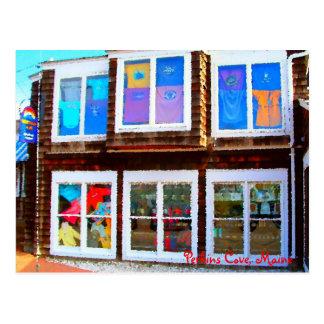 Compras de la ventana, ensenada de Perkins, postal