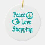Compras del amor de la paz adorno para reyes