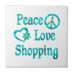 Compras del amor de la paz azulejo ceramica