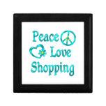 Compras del amor de la paz caja de joyas