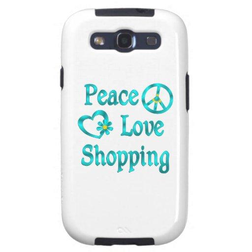 Compras del amor de la paz samsung galaxy SIII funda