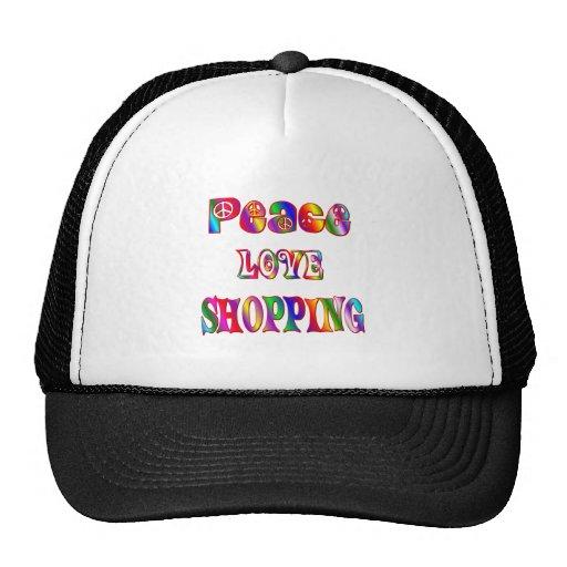 Compras del amor de la paz gorros