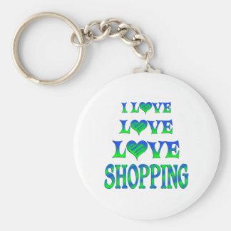 Compras del amor del amor llavero personalizado
