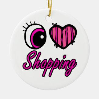 Compras del amor del corazón I del ojo de Emo Adorno Redondo De Cerámica