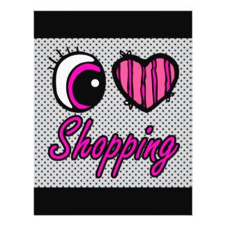 """Compras del amor del corazón I del ojo de Emo Folleto 8.5"""" X 11"""""""
