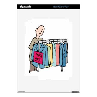 Compras del hombre para la ropa calcomanías para iPad 2