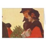 Compras del navidad, del hombre y de la mujer del felicitación