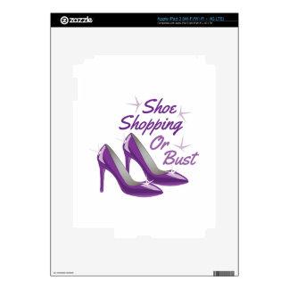 Compras del zapato pegatina skin para iPad 3