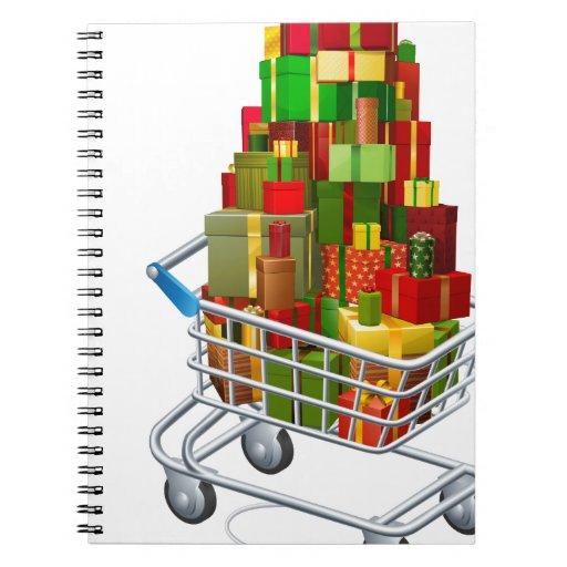 Compras en línea del regalo del navidad libro de apuntes con espiral