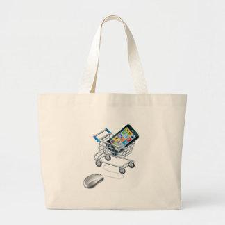 Compras en línea para el teléfono bolsa tela grande