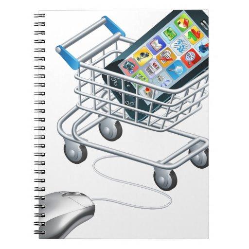 Compras en línea para el teléfono libros de apuntes con espiral