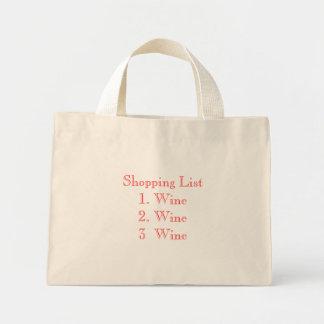 Compras List1. Wine2. Vino Wine3 Bolsa De Tela Pequeña