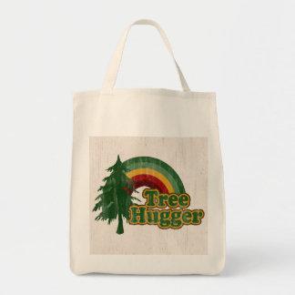 Compras reutilizables de Hugger del árbol Bolsa Tela Para La Compra