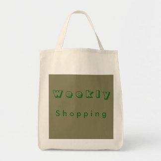 Compras semanales bolsa tela para la compra