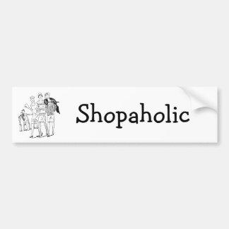 compras, Shopaholic Pegatina Para Auto