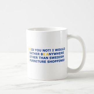 Compras suecas de los muebles taza básica blanca