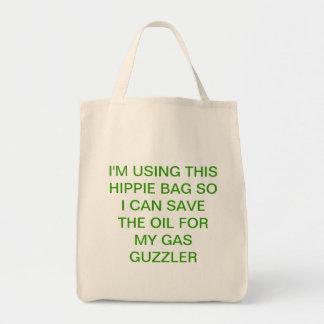 Compras verdes con humor bolsa